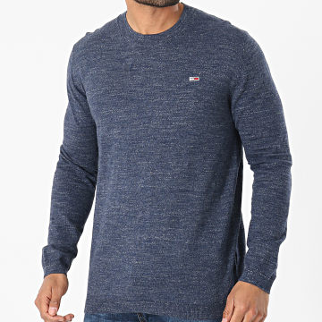 Tommy Jeans - Pull Lightweight Heather Sweater 0179 Bleu Chiné