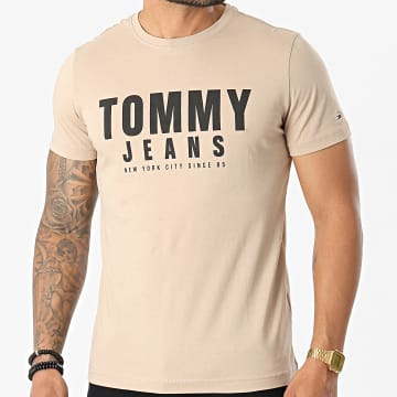 Tommy Jeans - Tee Shirt Center Chest Tommy Graphic 0243 Beige