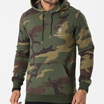 Anthill - Sweat Capuche Camouflage Chest Logo Vert Kaki