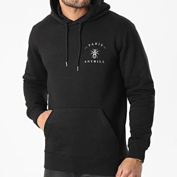 Anthill - Sweat Capuche Chest Logo Noir