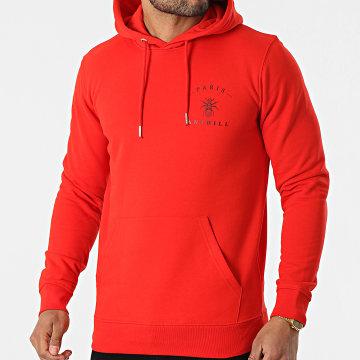 Anthill - Sweat Capuche Chest Logo Rouge Noir