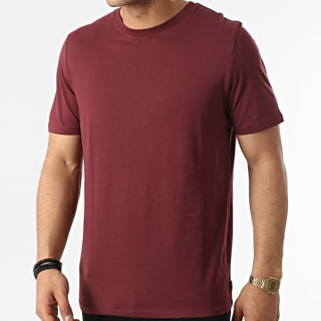 Jack And Jones - Tee Shirt Organic Basic Bordeaux