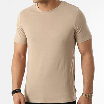 Jack And Jones - Tee Shirt Organic Basic Beige