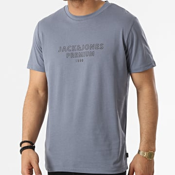 Jack And Jones - Tee Shirt Edgar Gris Bleu