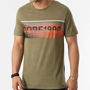 Jack And Jones - Tee Shirt Jenson Vert Kaki