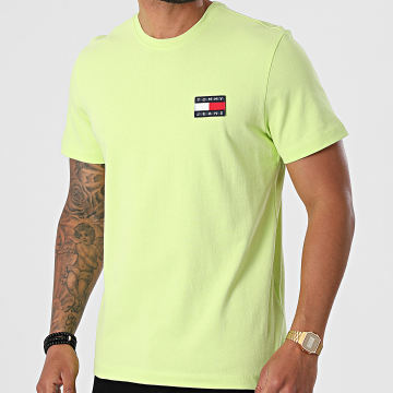 Tommy Jeans - Tee Shirt Tommy Badge 6595 Vert Clair