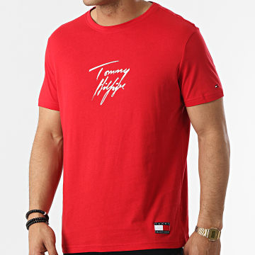 Tommy Hilfiger - Tee Shirt Logo 1787 Rouge