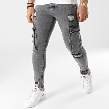 2Y Premium - Jean Skinny B6006 Gris Chiné