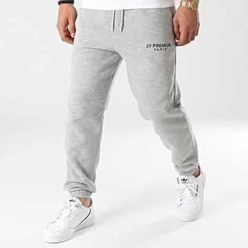 2Y Premium - Pantalon Jogging 5263 Gris Chiné
