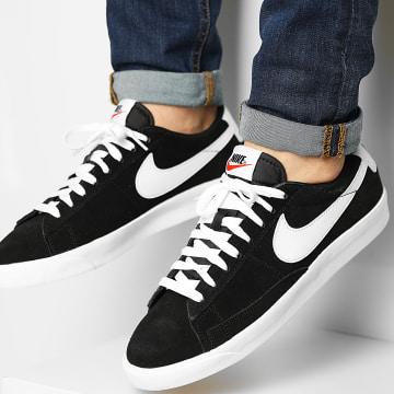 Nike - Baskets Blazer Low Premium Vintage Suede 538402 Black White