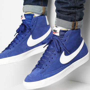 Nike - Baskets Blazer Mid 77 Suede CI1172 Deep Royal Blue White
