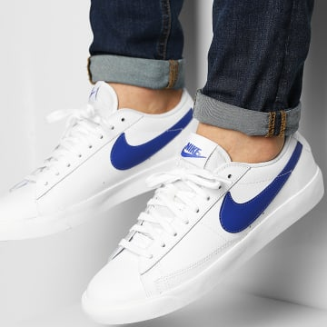 Nike - Baskets Blazer Low Leather CI6377 White Astronomy Blue Sail