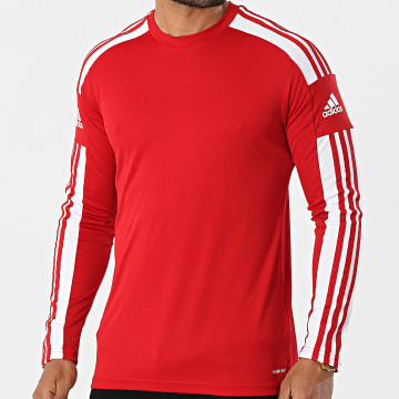 Adidas Performance - Tee Shirt De Sport Manches Longues A Bandes Squad 21 GN5792 Rouge