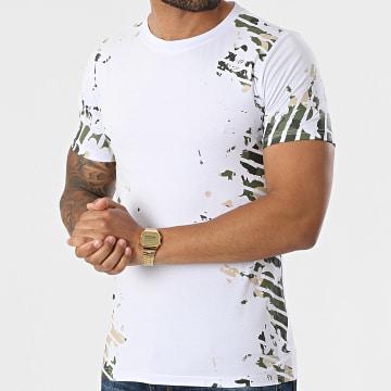 Berry Denim - Tee Shirt XP067 Blanc Vert Kaki Camouflage