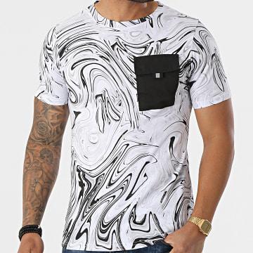 Berry Denim - Tee Shirt Poche XP059 Blanc Noir