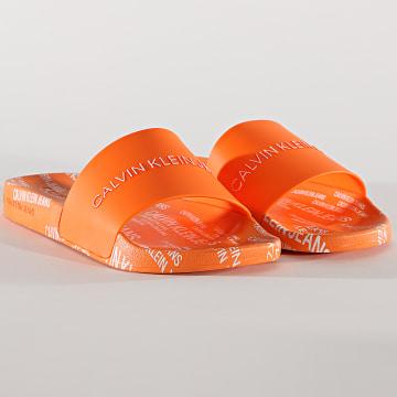 Calvin Klein - Claquettes Institutional 0074 Orange