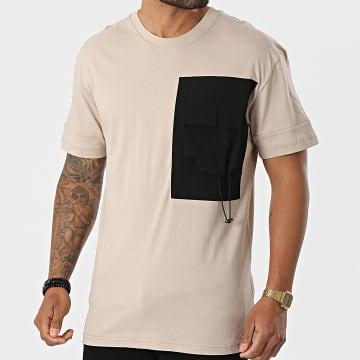Classic Series - Tee Shirt Poche TS99-03 Beige Noir