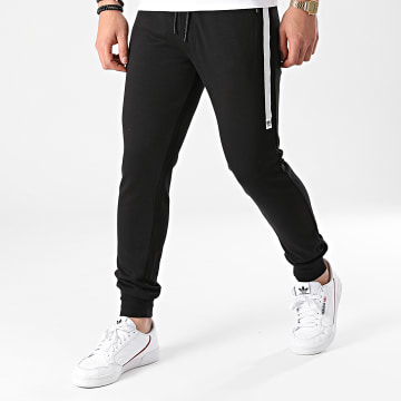 Jack And Jones - Pantalon Jogging Taped Sweat 12187894 Noir