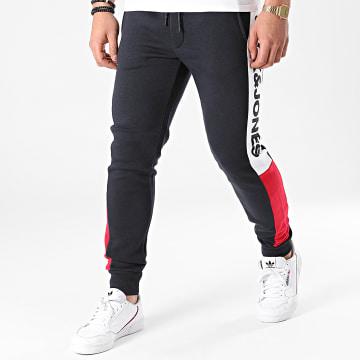 Jack And Jones - Pantalon Jogging Tricolore A Bandes Will Logo Blocking 12197199 Bleu Marine