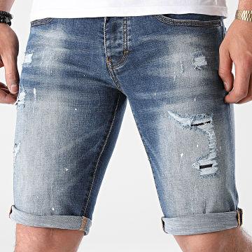Mackten - Short Jean Slim DX-3104 Bleu Denim