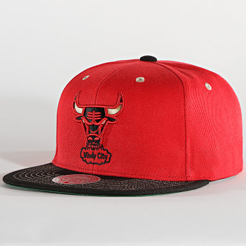 Mitchell and Ness - Casquette Snapback Contrast Stitch 6HSSDX19003 Chicago Bulls Rouge