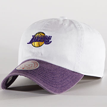 Mitchell and Ness - Casquette Punch In 6LUOMM19477 Los Angeles Lakers Blanc Violet