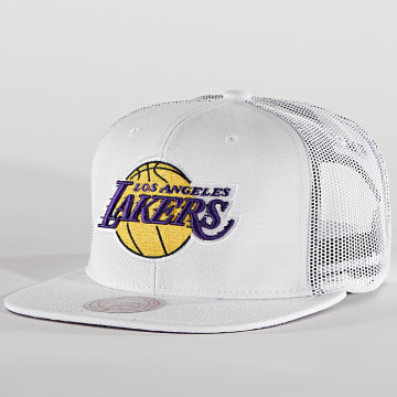 Mitchell and Ness - Casquette Trucker Cool Down 6HSSMM19479 Los Angeles Lakers Blanc