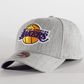 Mitchell and Ness - Casquette Snapback Team Heather 6HSSMM19363 Los Angeles Lakers Gris Chiné
