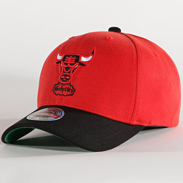 Mitchell and Ness - Casquette Snapback Wool 2-Tone 6HSSMM19358 Chicago Bulls Rouge Noir