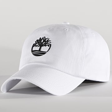 Timberland - Casquette Rubberized Logo A1X1Q Blanc