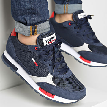 Tommy Jeans - Baskets Retro Runner Mix 0699 Twilight Navy