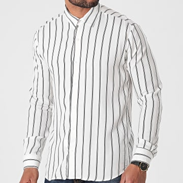 Aarhon - Chemise Manches Longues A Rayures 3000 Blanc