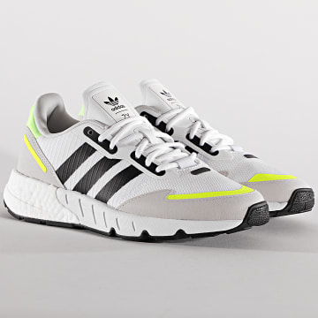 Adidas Originals - Baskets ZX 1K Boost H69037 Footwear White Core Black Solar Yellow