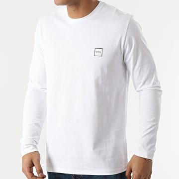 BOSS - Tee Shirt Manches Longues Tacks 50459456 Blanc