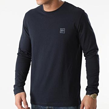 BOSS - Tee Shirt Manches Longues Tacks 50459456 Bleu Marine