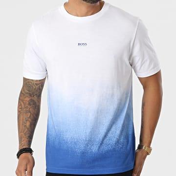 BOSS - Tee Shirt Tegrade 50453673 Blanc Bleu Dégradé