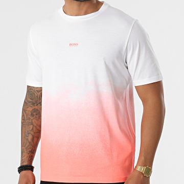 BOSS - Tee Shirt Tegrade 50453673 Blanc Orange Fluo Dégradé