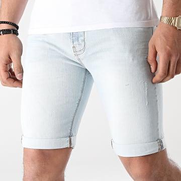 Indicode Jeans - Short Jean Slim Kaden Bleu Wash