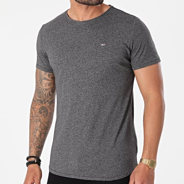 Tommy Jeans - Tee Shirt Oversize Slim Jaspe 9586 Gris Anthracite Chiné