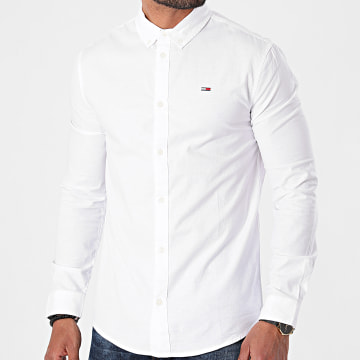 Tommy Jeans - Chemise Manches Longues Slim Stretch Oxford 9594 Blanc