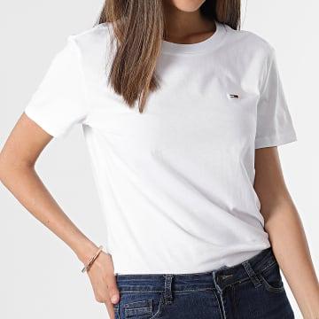 Tommy Jeans - Tee Shirt Femme Regular Jersey 9198 Blanc