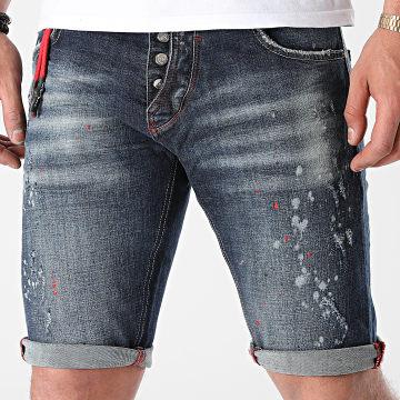 Uniplay - Short Jean Skinny 332 Bleu Denim