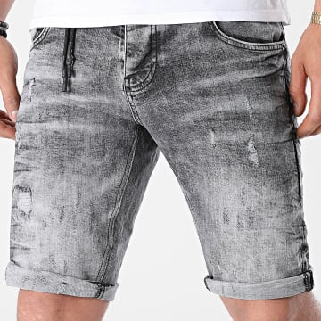 Uniplay - Short Jean Skinny 366 Gris Chiné