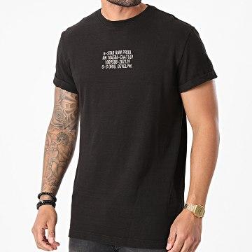 G-Star - Tee Shirt D19848-C789 Noir Chiné