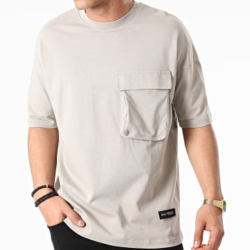 Ikao - Tee Shirt Oversize Poche LL441 Gris