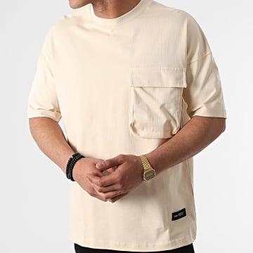 Ikao - Tee Shirt Oversize Poche LL441 Beige