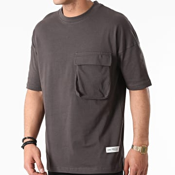 Ikao - Tee Shirt Oversize Poche LL441 Gris Anthracite