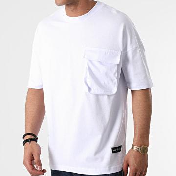 Ikao - Tee Shirt Oversize Poche LL441 Blanc