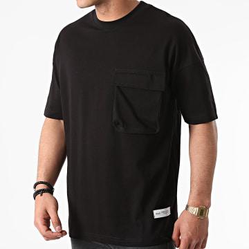 Ikao - Tee Shirt Oversize Poche LL441 Noir