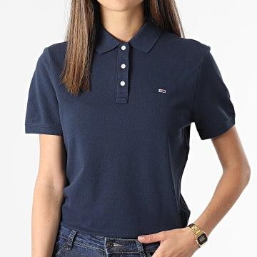Tommy Jeans - Polo Manches Courtes Femme Slim 9199 Bleu Marine